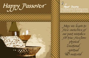 Greeting card for Passover 2016