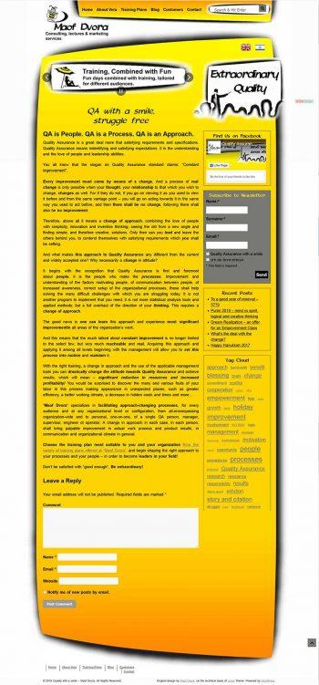 Screenshot of professional bilingual website Homepage