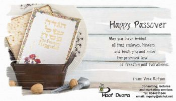 Greeting card for Passover 2019